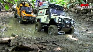 9 Trucks RC Mudding Trail at Chestnut Ave Defender D90 Axial Wraith 6x6 King Hauler Man Honcho