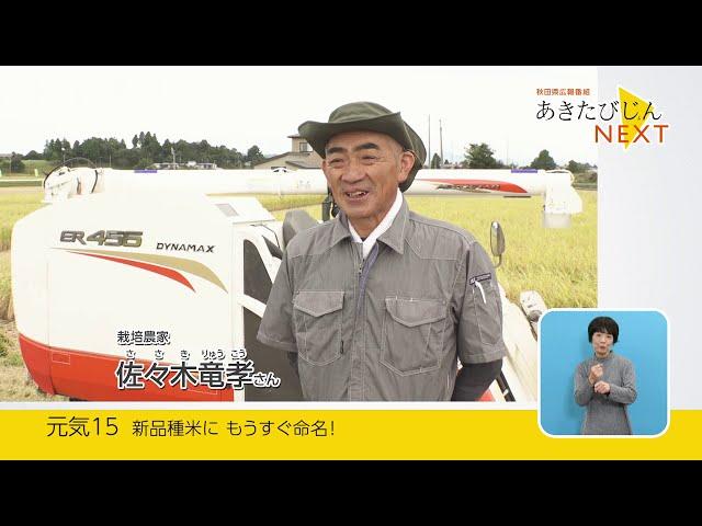 あきたびじょんNEXT 2020 VOL.15「新品種米にもうすぐ命名!」