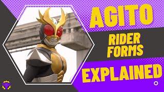 Kamen Rider Agito: Rider Forms EXPLAINED