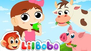 Chew, Chew and Swallow Food - Little BoBo Nursery Rhymes | FlickBox Kids Songs