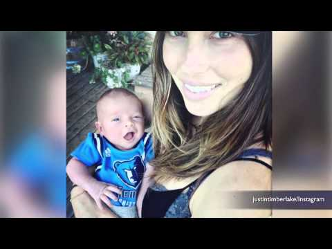 Justin Timberlake and Jessica Biel share first photo of baby Silas