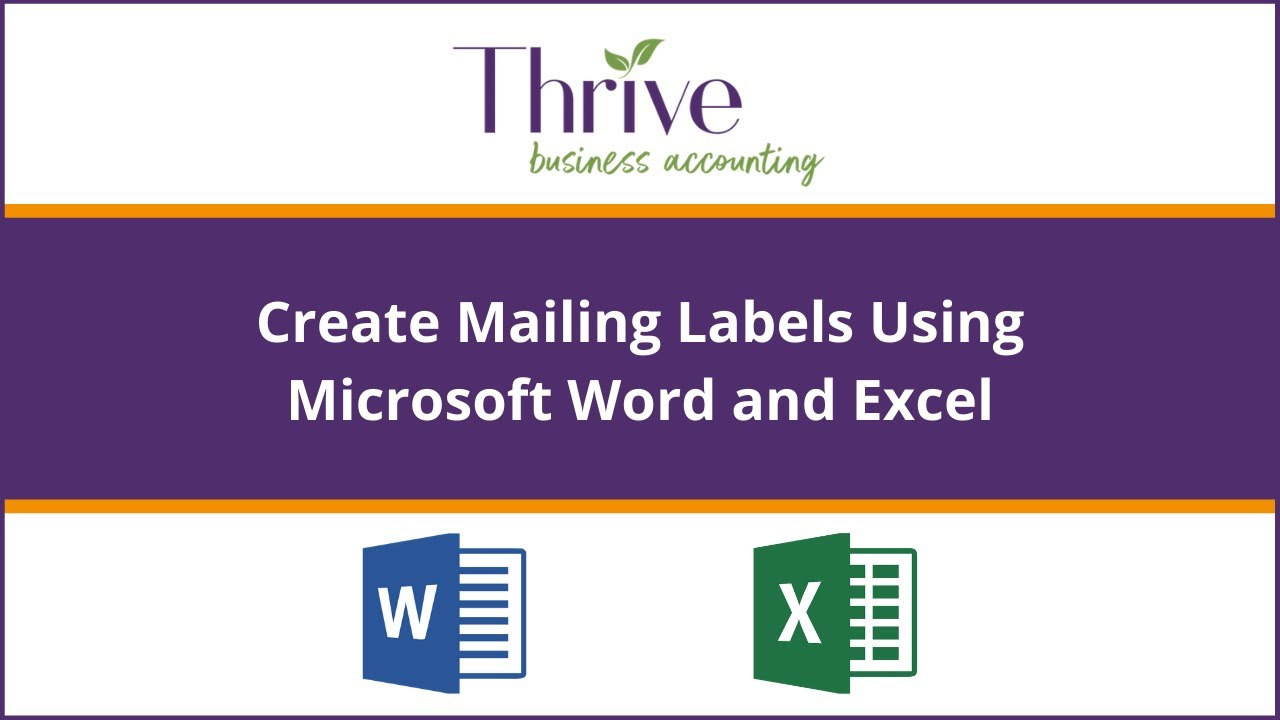 How To Merge Labels In Microsoft Word With Microsoft Excel