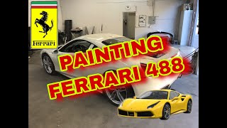 "REBUILDING A WRECKED FERRARI 488 GTB FROM COPART PART 7 ""PAINTING FERRARI"""