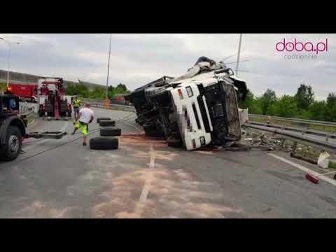 Tak Wyglądało Podnoszenie Ciężarówki Z Naczepą Po Wypadku Na AOW