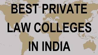 Best Private Law Colleges in India Govt, Private, International