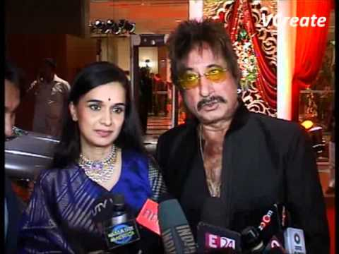 Shakti Kapoor and family at Bappa Lahiri's marriage party.flv