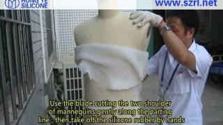 Artesanato - Como fazer pele de manequim de borracha de silicone