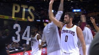 Kevin Love RIDICULOUS 34 Point Quarter l 11.23.16