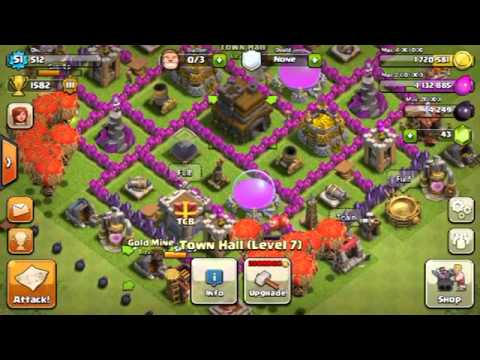 Clash of clans level 8 town hall farming base how to save money and