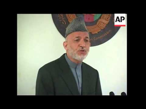 Afghan president blames foreigners for vote fraud