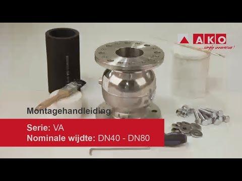 Reparatie: AKO slangafsluiter (pneumatisch), serie VA, DN40, DN50, DN65, DN80