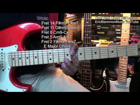 How To Play A Cool R&B Chord Riff Lead ON Guitar Lesson E Major EricBlackmonMusicHD