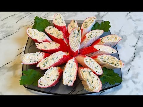 Фаршированные Крабовые Палочки / Crab Sticks (Appetizer) / Закуска из Крабовых Палочек на Праздник