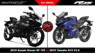 All You Need to Know - 2019 Suzuki Gixxer SF V/S 2019 Yamaha R15 V3.0.