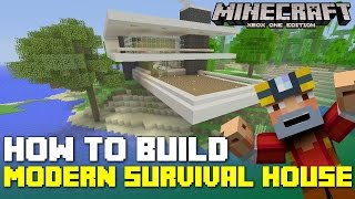 Minecraft Xbox One: How to Build - Advanced Modern House for Survival! (Tutorial - Part 3/3)