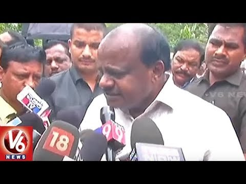 CM Kumaraswamy Reacts Over BJP's Protest Over Farmer Problems | Karnataka | V6 News
