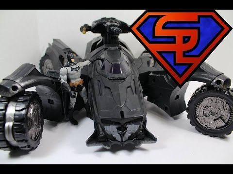 Batman Arkham Knight DC Comics Multiverse Batmobile SDCC 2014 Exclusive Toy Review