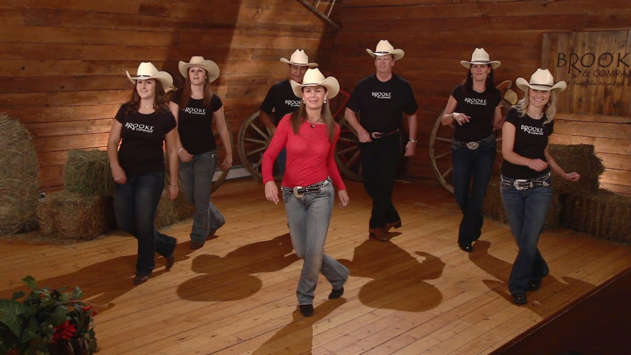 Cowboy Cha Cha Line Dance Instruction Youtube