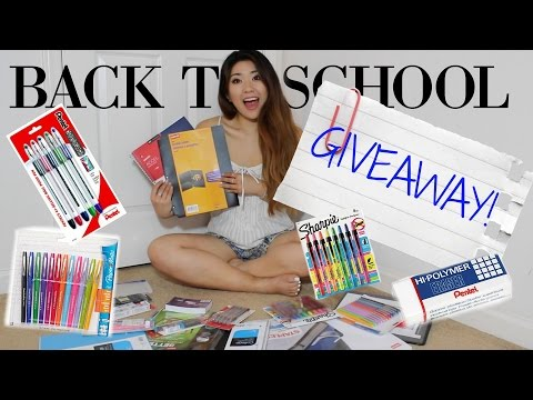 Back To School Giveaway!   International   Limited Edition Supplies
