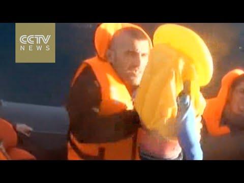 Video: Turkey coast guard comes to rescue of migrants