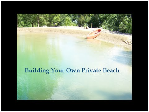3. Building A Private Beach - Natural Swimming Pool Pond DIY on pool budget Sept12
