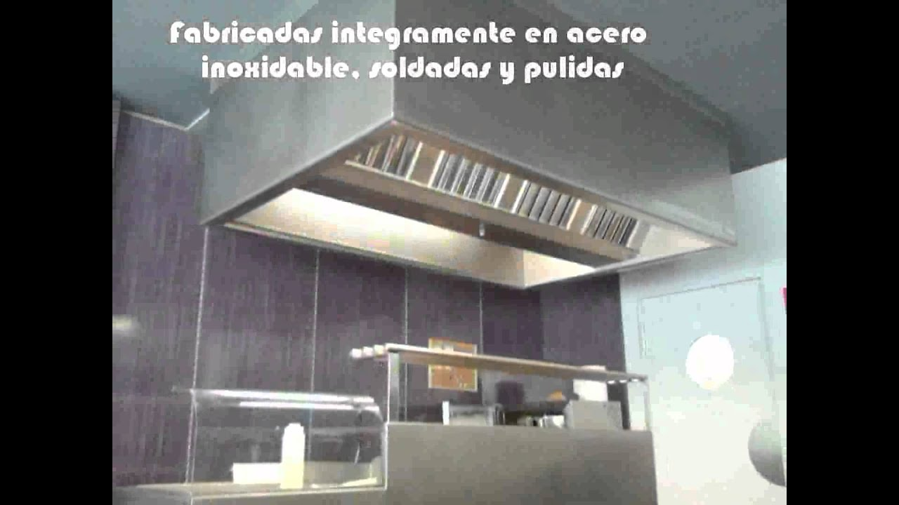 Campanas extractoras industriales youtube - Campana cocina industrial ...