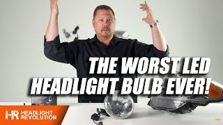 The Worst LED Headlight Bulb In The World!!! H4 LED Projector from China