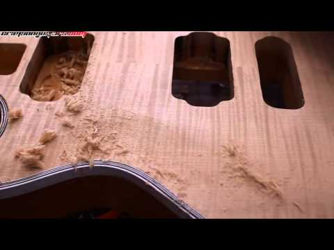 how to carve a Les Paul style guitar top by hand pt 4 - using scrapers