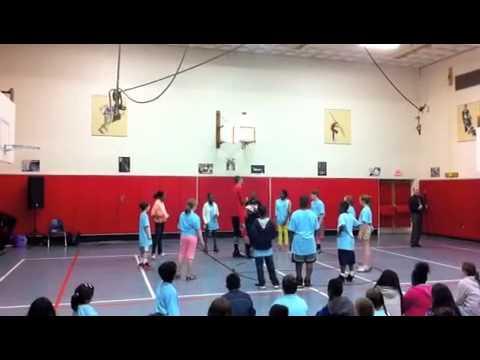 Harlem Wizard Dave Paul Visits Ridgefield's Scotland Elementary School