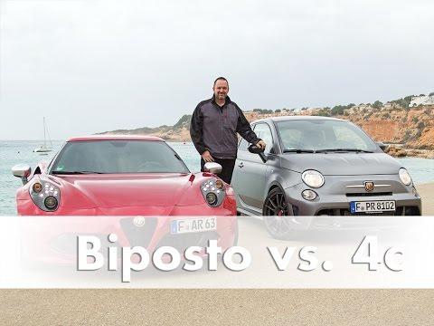 Tested: Abarth 695 Biposto vs. Alfa Romeo 4c   Comparison Test   Showdown   Review