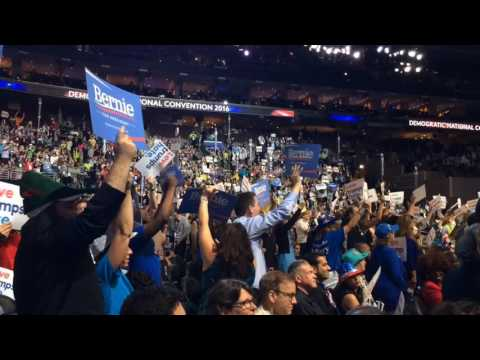 Sanders supporters vs. Clinton supporters at DNC 2016