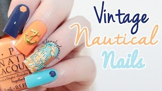 Vintage Nautical Nails