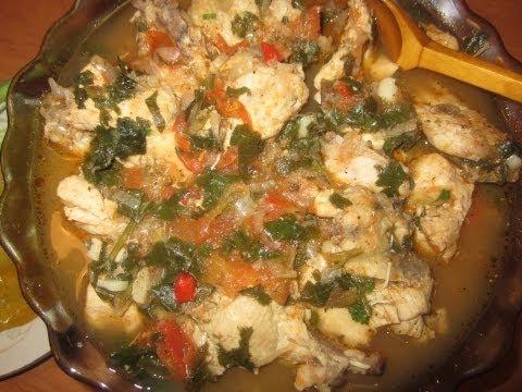 Грузинская кухня. Чахохбили из курицы (рагу).