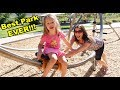 BEST Park Ever! Visiting My Twins Kids & Going To The Park With 6 Kids
