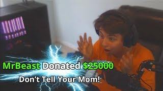 I Donated $25,000 To Random Kids Streaming Fortnite