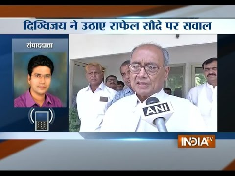 Digvijay Singh Questions India's Rafale Deal with France - India TV