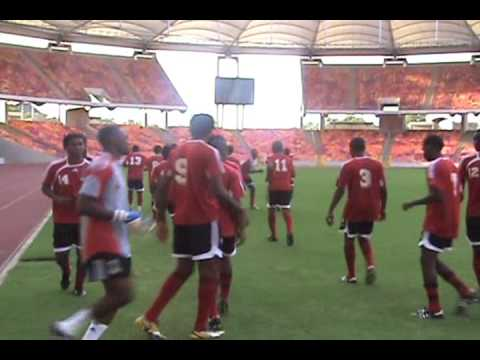 TT footballers train at Abuja National Stadium, Nigeria