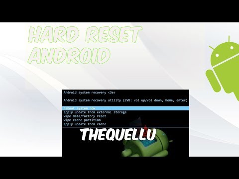 Hard Reset Cualquier Android 2017!!