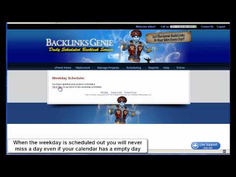BackLinks Genie Scheduler Tutorial