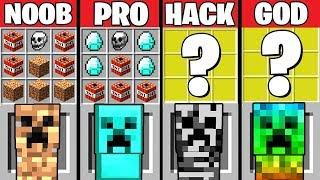 Minecraft Battle: SUPER CREEPER CRAFTING Challenge ~ NOOB vs PRO vs HACKER vs GOD - Animation
