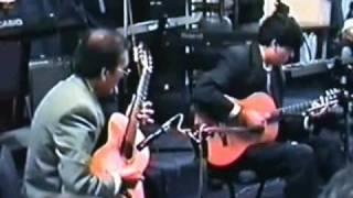 Guitarristas de Calama Ricardo Pérez y Roni Pérez