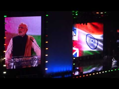 Indian Prime Minister Narendra Modi's full speech (in Hindi language) at Wembley Stadium, London, UK
