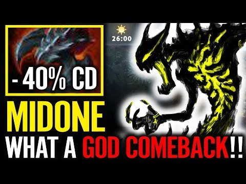 -40% CD What a Comeback by MIDONE Shadow Fiend Dota 2 Epic SF Gameplay 7.10 META