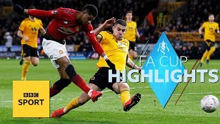 Highlights: Wolves 2-1 Manchester United - FA Cup - BBC Sport