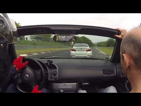 Honda S2000 vs BMW M4 Nurburgring Nordschleife 24.05.2015 BTG 8min30