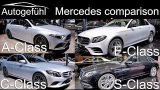 Mercedes A-Class vs C-Class vs E-Class vs S-Class sedan comparison - Autogefühl