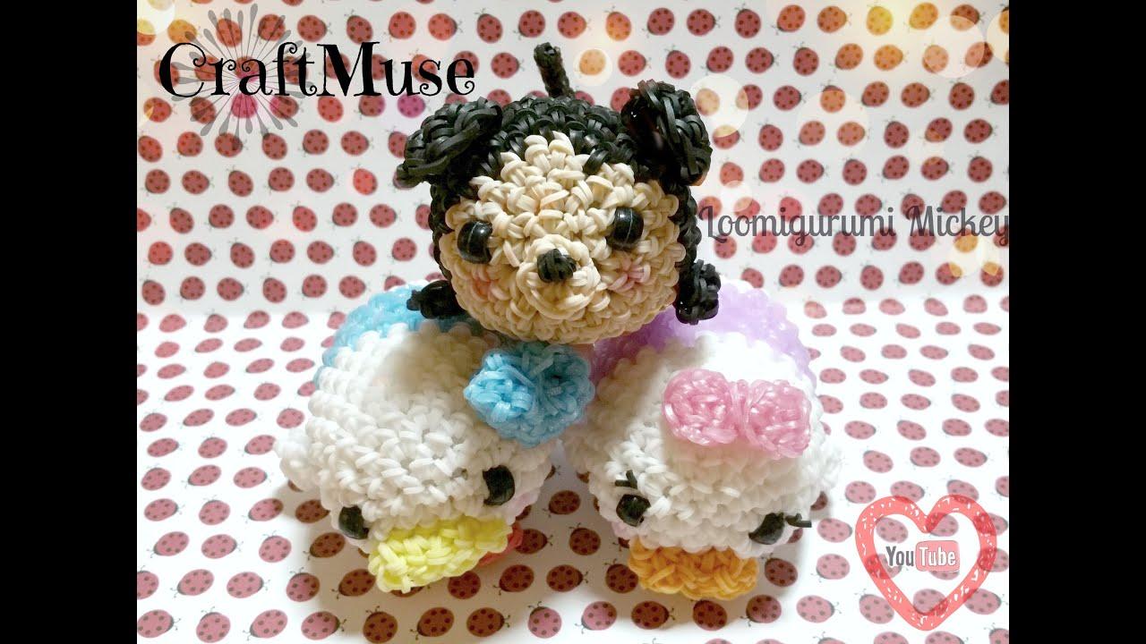 Rainbow Loom Amigurumi Mouse : Rainbow Loom Mickey Inspired by Tsum Tsum Loomigurumi ...