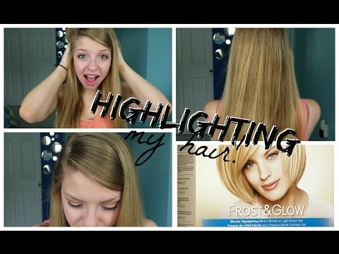 HIGHLIGHTING MY HAIR?! :Revlon Frost and Glow Review