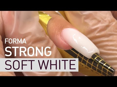 STRONG SOFT WHITE. Nail extension on FORM
