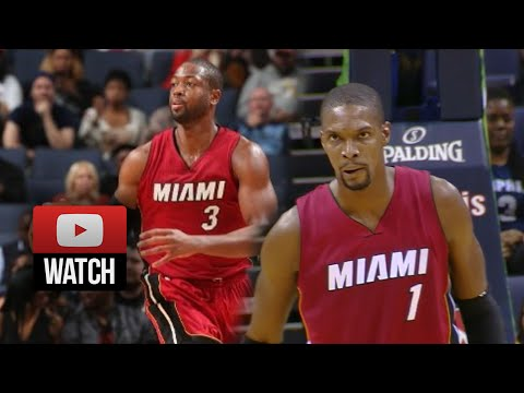 Chris Bosh & Dwyane Wade Full Highlights at Grizzlies (2014.10.24) - 37 Pts Total!
